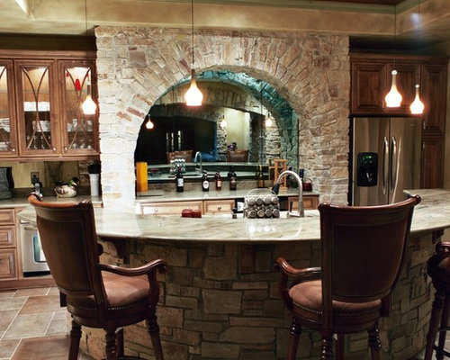 Stone bar front home design ideas pictures remodel and decor