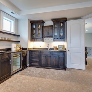 Wet Bar in Family/Theater Room - The Aerius - Two Story Modern American Craftsma