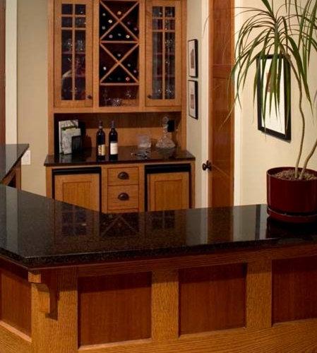 Craftsman Houston Home Bar Design Ideas Remodels Photos