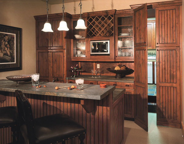 Traditional Home Bar by Jaffa Group Design Build