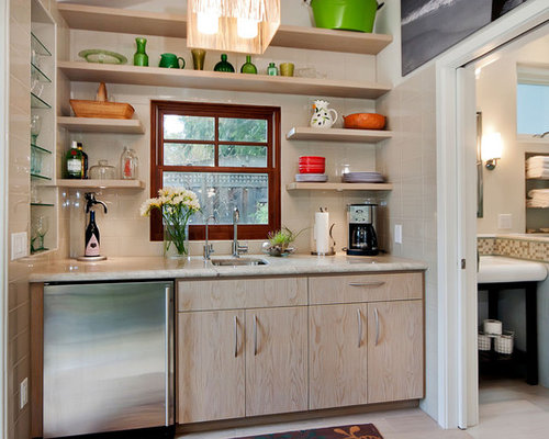 saveemail - Open Shelves Kitchen Design Ideas