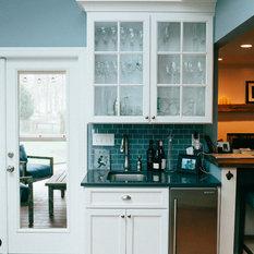 1 Farmhouse Turquoise Wet Bar Ideas