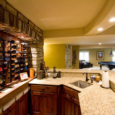 Traditional Wine Cellar by True Form Design and Building Inc.