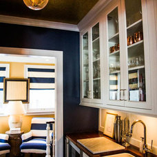 Transitional Home Bar by Sarah Whit Interior Design