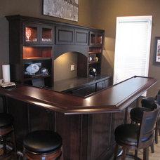 Traditional Family Room by Buckeye Basements, Inc.