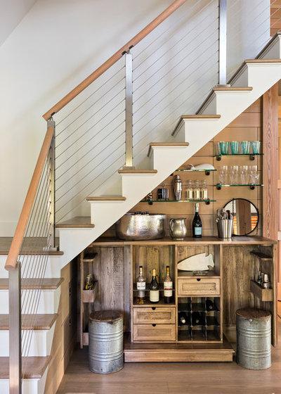 Rustic Home Bar by sullivan + associates architects