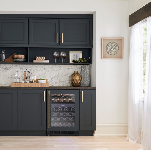 Transitional Home Bar by ZEPHYR