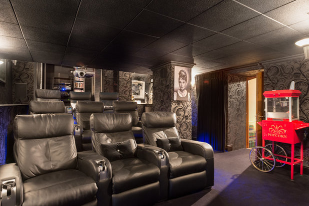 Contemporary Home Cinema by Colin Cadle Photography
