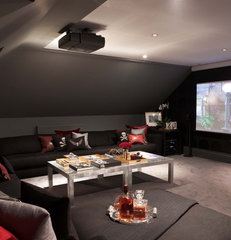 modern media room by Maurizio Pellizzoni Design Ltd