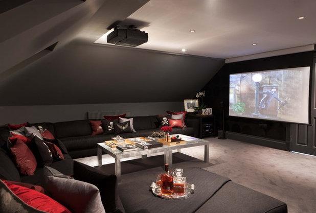 Modern Home Theater by Maurizio Pellizzoni Ltd