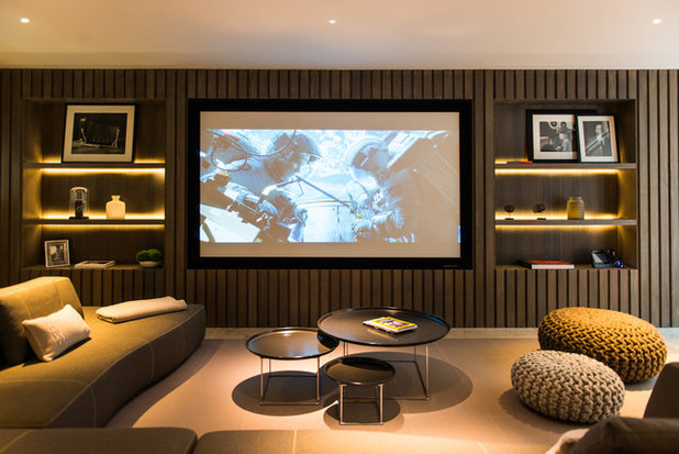 Contemporary Home Cinema by Nash Baker Architects