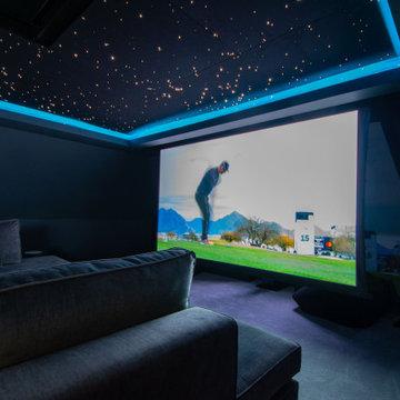 Bepsoke Home Cinema in Top Floor Attic Room