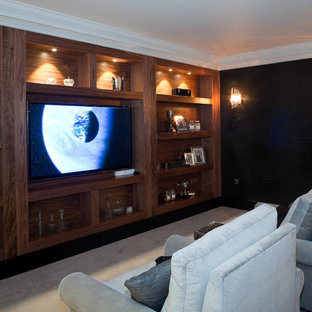 Inspiration for a classic home cinema in Berkshire.