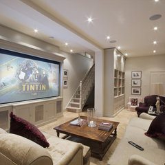 traditional media room by Olive Audio Visual