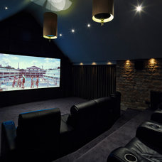 Contemporary Home Theater by Inspired Design Ltd