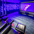 Gaming room contemporary home theater calgary by k - Halo salon vancouver ...
