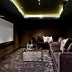 Italian Style Abode Home Theater Contemporary Home