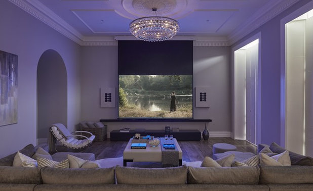Contemporary Home Cinema by Cherie Lee Interiors