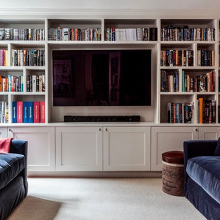 Example Of A Country Home Theater Design In Surrey