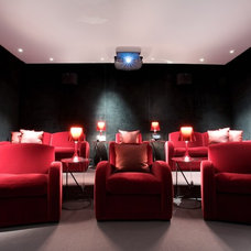 Contemporary Home Theater by Olive Audio Visual