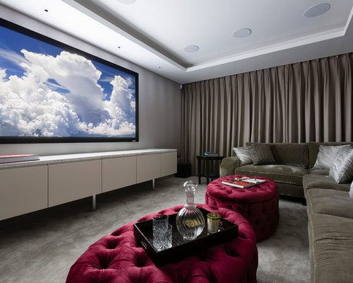 Media Room Blackout Curtains Ideas, Pictures, Remodel and Decor