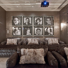 Contemporary Home Theater by The Art of Bespoke