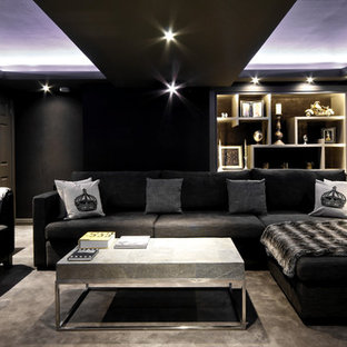 This is an example of a contemporary home cinema in Other.