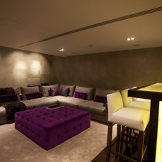 Contemporary Home Theater by Sacha Jacq Interiors