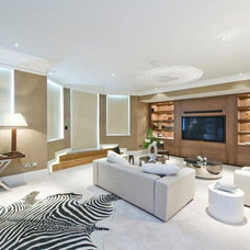 Contemporary Home Theater by Avid Design Creative Interiors