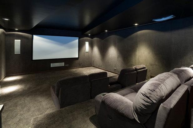 Contemporáneo Cine en casa by ANS Construction and renovation
