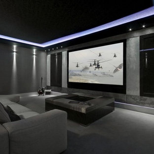 75 Most Popular Modern Home Theater Design Ideas For 2019