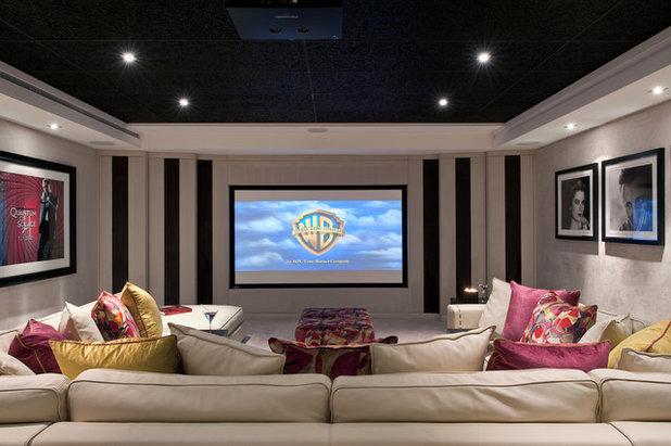 Contemporáneo Cine en casa by Hill House Interiors