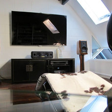 Modern Home Theater by Walk Interior Design Limited