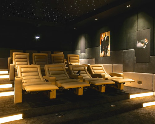 Modern home theatre houzz Modern home theater design ideas