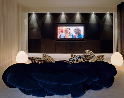 modern media room by SHH - Spence, Harris, Hogan Associates