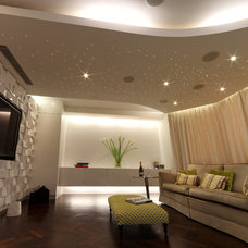 Contemporary Home Theater by sporadicSPACE
