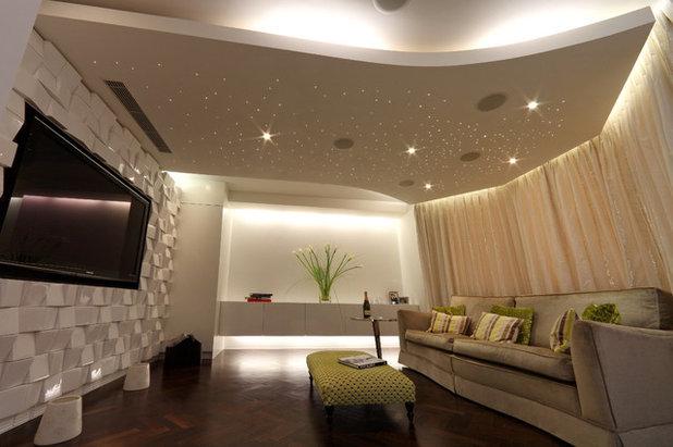 Contemporary Home Cinema by sporadicSPACE