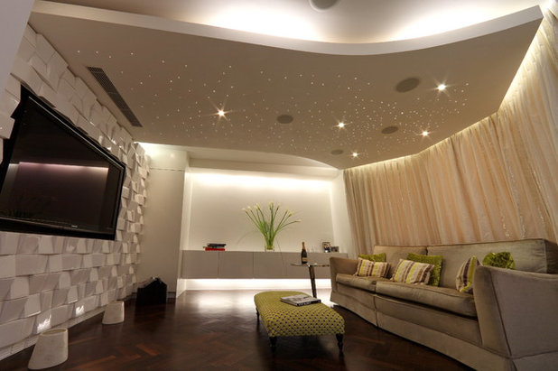 dropped ceiling lighting. Contemporary Home Cinema By SporadicSPACE · SporadicSPACE. Do More With A Dropped Ceiling Lighting