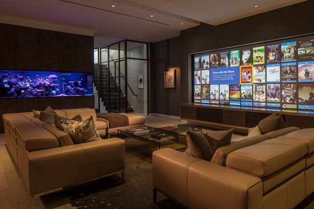Contemporary Home Theatre by Roselind Wilson Design