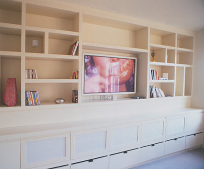 contemporary media room by SHH - Spence, Harris, Hogan Associates