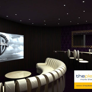 Expansive contemporary home cinema.