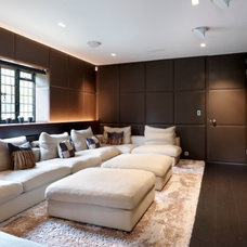 Contemporary Home Theater by Gregory Phillips Architects
