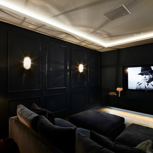 Home Theater Idea In London With A Wall Mounted Tv