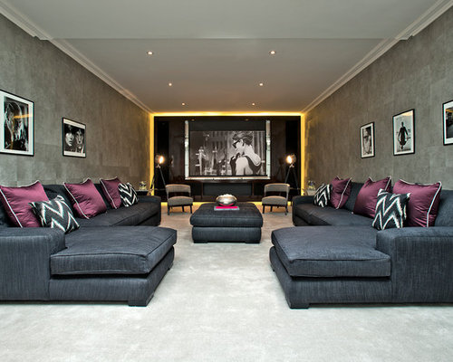 75 Trendy Traditional Home Cinema Design Ideas - Pictures of ...