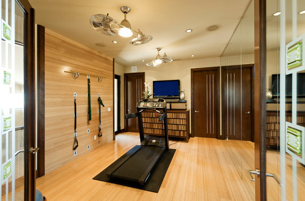 Contemporary Home Gym by Pinnacle Architectural Studio