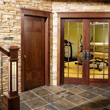 Contemporary Home Gym by Stallion Doors and Millwork
