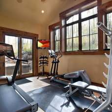 Rustic Home Gym by Jaffa Group Design Build