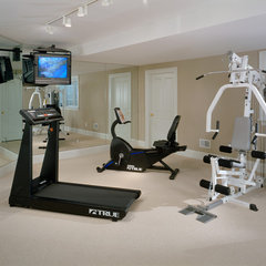 traditional home gym by Witt Construction