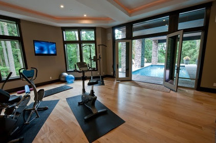 Contemporary Home Gym by Simple Floors - Portland