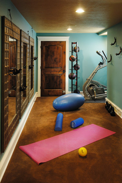 Traditional Home Gym by Doug Pitts Construction